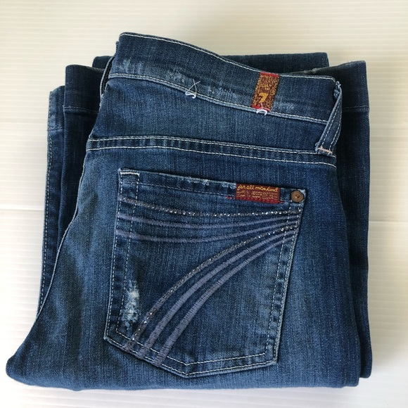 7 For All Mankind Denim - 7 for all mankind Dojo Crystal Jeans, 27 x 34